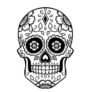 how to draw sugar skull