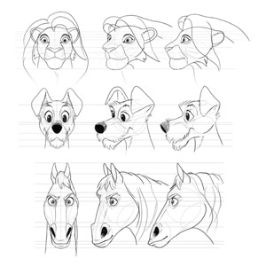 how to draw Disney animals