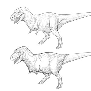 how to draw a trex