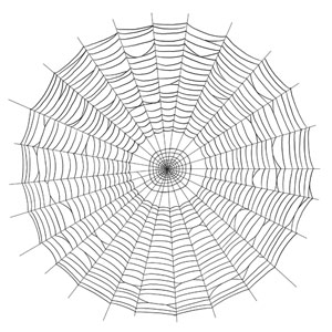 how to draw a spiders web