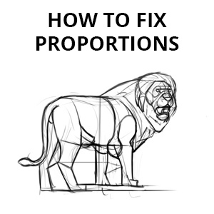how to fix proportions in your drawing