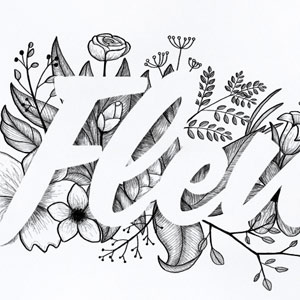 create floral typography