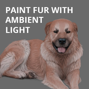 paint fur with ambient light