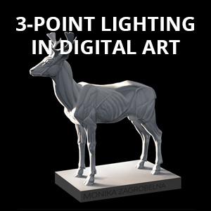 three-point lighting in digital art