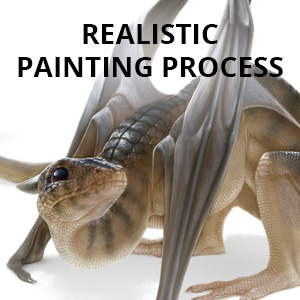 realistic painting process