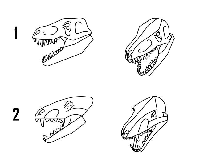 dragon head with teeth